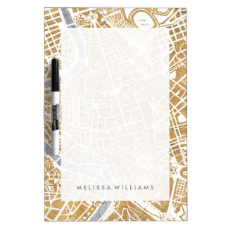 Gilded City Map Of Rome Dry Erase Board