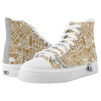 Gilded City Map Of Rome High Tops