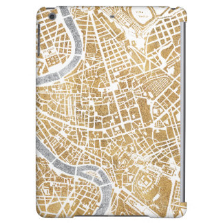 Gilded City Map Of Rome iPad Air Covers