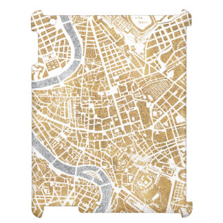 Gilded City Map Of Rome iPad Case