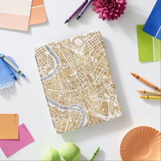 Gilded City Map Of Rome iPad Cover