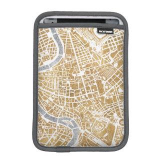 Gilded City Map Of Rome iPad Mini Sleeves