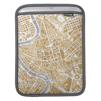 Gilded City Map Of Rome iPad Sleeve