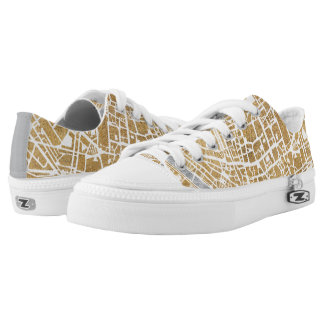 Gilded City Map Of Rome Low-Top Sneakers
