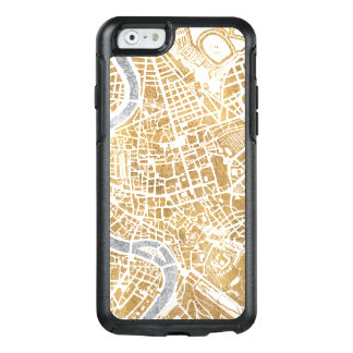 Gilded City Map Of Rome OtterBox iPhone 6/6s Case