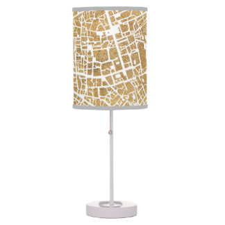 Gilded City Map Of Rome Table Lamp