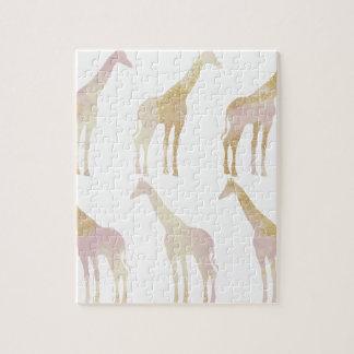 Gilded Giraffes 1 Jigsaw Puzzle