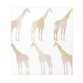 Gilded Giraffes 1 Notepad