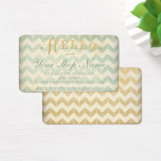 Gilded Gold Chevron Business Cards