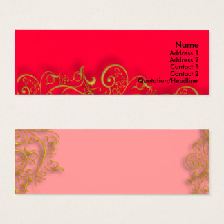 gilded gold swirls DIY background color Mini Business Card