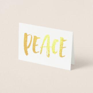 Gilded Peace Foil Card