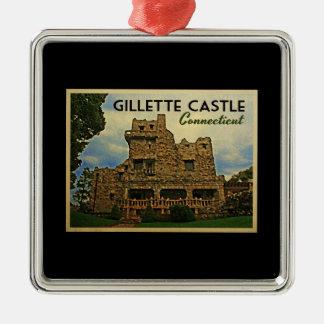 Gillette Castle Connecticut Metal Ornament