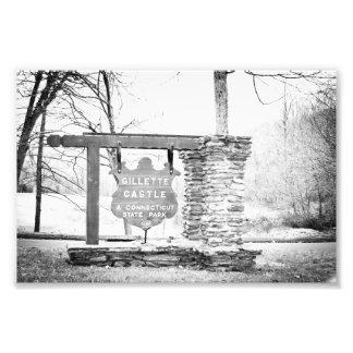 Gillette Castle State Park Sign Photo Art