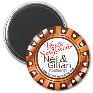 Gillian's Vegas Newlyweds Casino Chip Magnet Favor