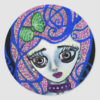 Gilly the Sad Emo Round Sticker