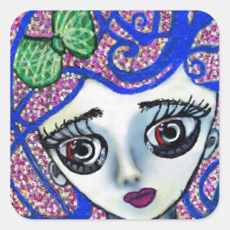 Gilly the Sad Emo Square Sticker
