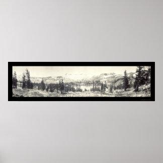 Gilmore Lake Tahoe Photo 1910 Poster