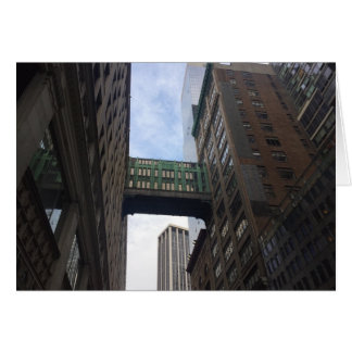 Gimbels Sky Bridge New York City NYC Photography Card