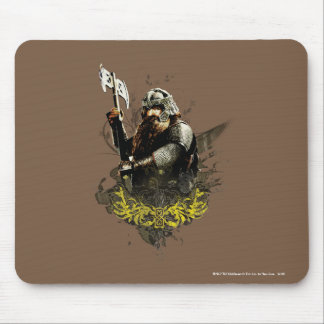 Gimli With Ax Vector Collage Mouse Pad