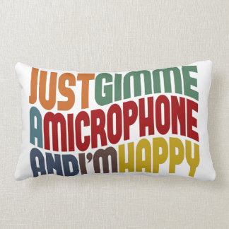 Gimme A Microphone Lumbar Pillow