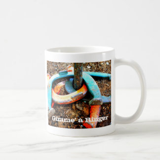 Gimme' a Ringer Horseshoe Pitching Gifts Coffee Mug