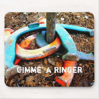 Gimme a Ringer Horseshoe Pitching Gifts Mousepad