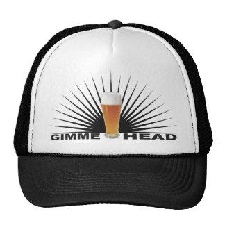 Gimme Head Funny Beer Trucker Hat (black)