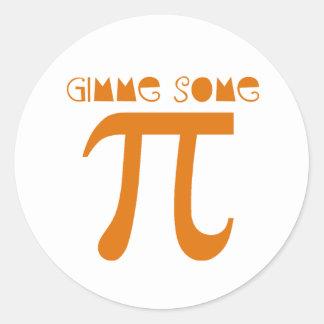 gimme pi classic round sticker