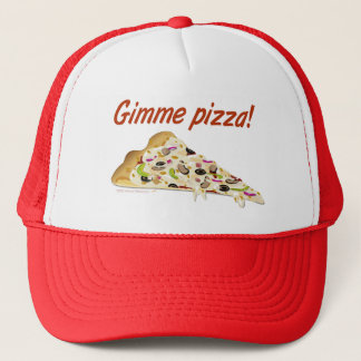 Gimme Pizza Pizza Lovers Truckers Hat