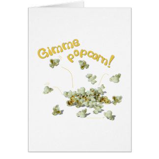 Gimme Popcorn Popcorn Lovers Card