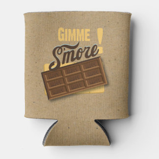Gimme S'more Bonfire Custom Birthday Bottle Can Cooler