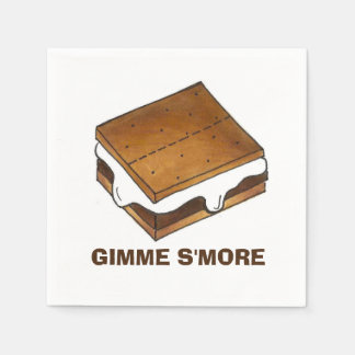 Gimme Smore Camp Picnic Campfire S'mores Napkins Disposable Napkins