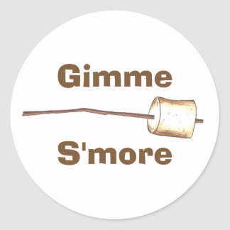 Gimme S'more Campfire Toasted Marshmallow Stickers