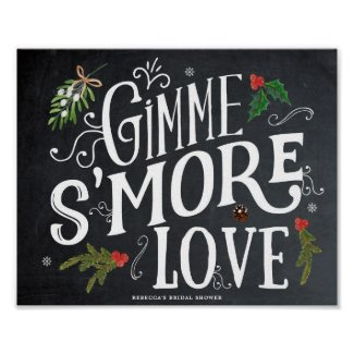 gimme smore love christmas favours sign