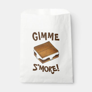 Gimme S'more Marshmallow Campfire S'mores Camp Favour Bag
