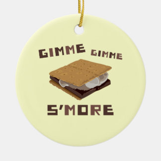 Gimme S'more Round Ceramic Ornament