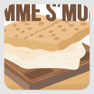 Gimme Smore Square Sticker