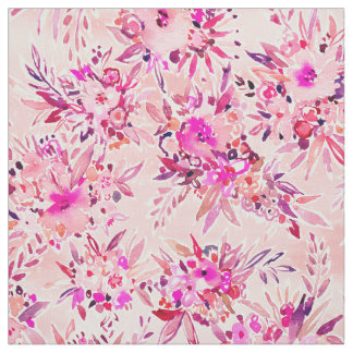 GIMME THAT Pink Wild Floral Fabric