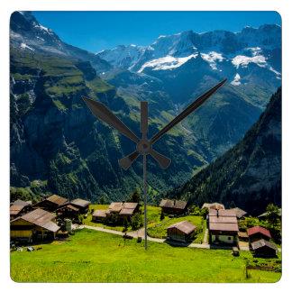 Gimmelwald In Swiss Alps - Switzerland Clocks