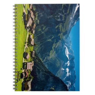 Gimmelwald In Swiss Alps - Switzerland Spiral Note Books