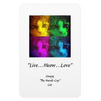 "Gimpy ""Live...Meow...Love"" Premium Flexi Magnet"