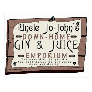 GIN & JUICE POSTCARD
