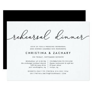 Gin Lane | Rehearsal Dinner Invitation