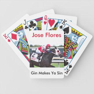Gin Makes Ya Sin Bicycle Playing Cards