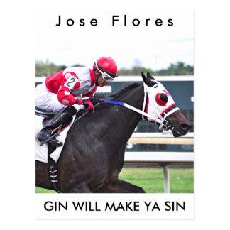 Gin Makes Ya Sin Postcard