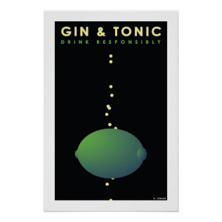 Gin & Tonic (Small Poster) Poster