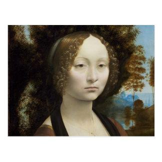 Ginevra de Benci by Leonardo da Vinci Postcard