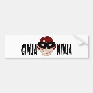 Gingembre Ninja Autocollant Pour Voiture