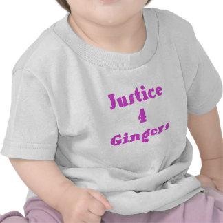 Gingembres de la justice 4 t-shirts