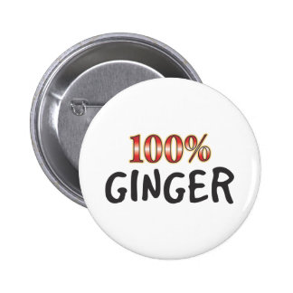 Ginger 100 Percent 2 Inch Round Button
